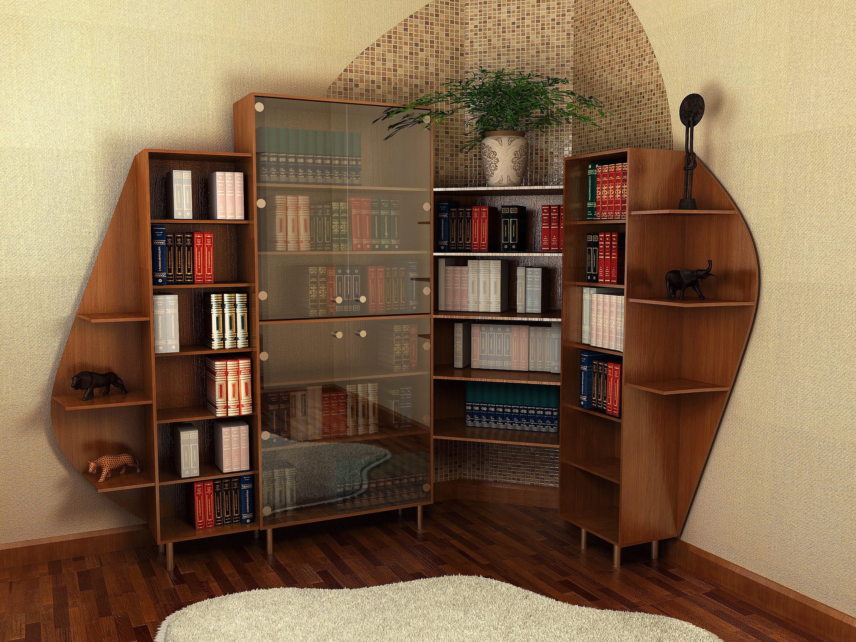 Книжный шкаф-библиотека своими руками 28