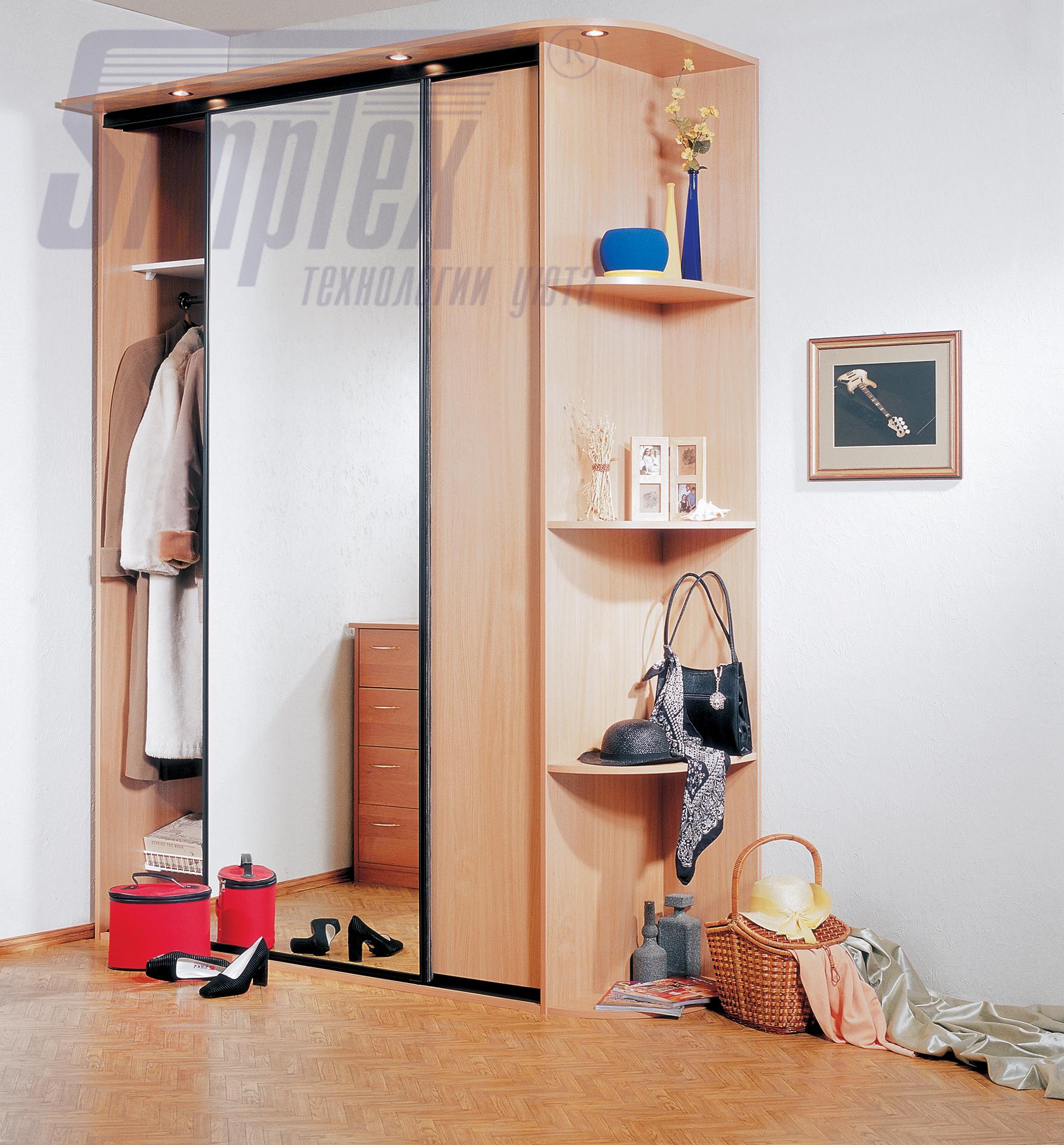 Треугольный шкаф в прихожую дизайн идеи
